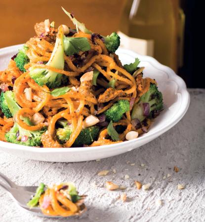 [Schnell & einfach] Spaghetti alla chitarra mit rotem Mandelpesto und geröstetem Broccoli | LIDL Kochen