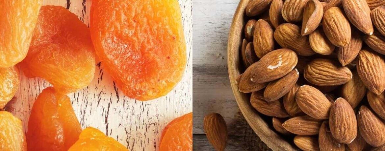 getrocknete Aprikose + Mandeln