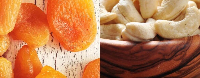 getrocknete Aprikose + Cashewnüsse
