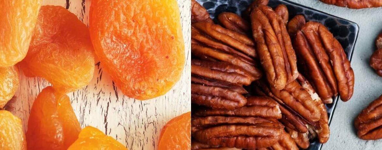 getrocknete Aprikose + Pekannüsse