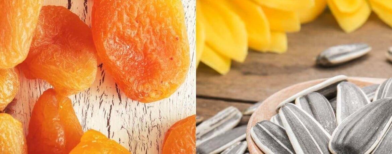 getrocknete Aprikose + Sonnenblumenkerne