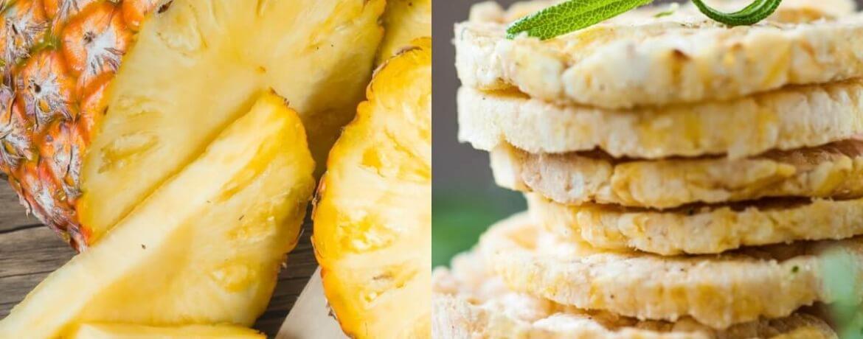 Ananas + Reiswaffeln