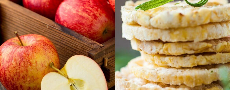 Apfel + Reiswaffeln