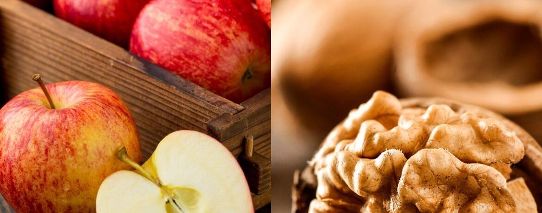 Apfel + Walnüsse