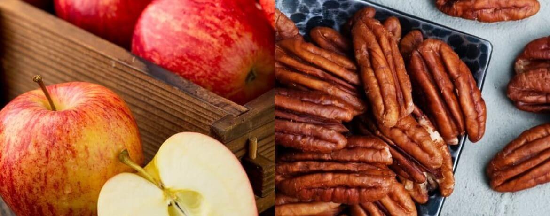 Apfel + Pekannüsse