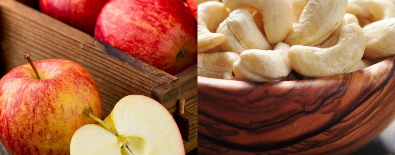 Apfel + Cashewnüsse