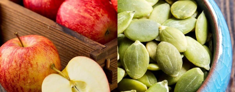 Apfel + Kürbiskerne