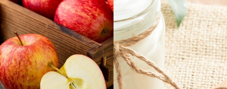 Apfel + Naturjoghurt