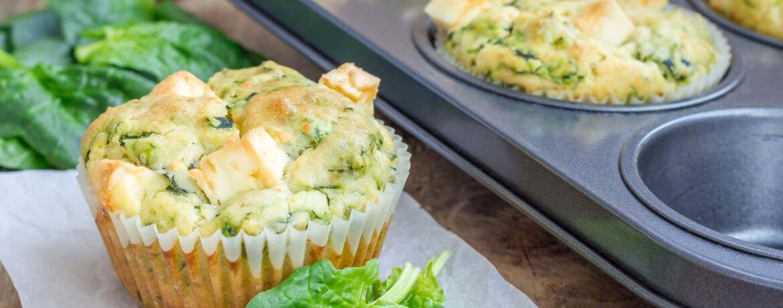 Eier-Muffins mit Feta und Spinat