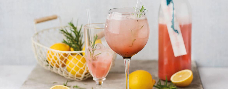 Alkoholfreier Rhabarber–Spritz