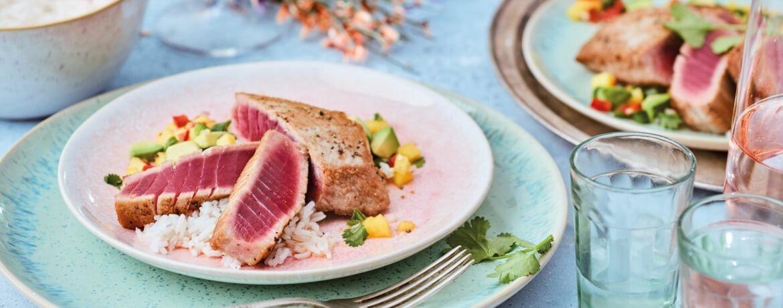 Thunfischsteak mit Mangosalsa