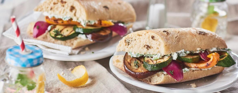 Sandwich mit Grillgemüse