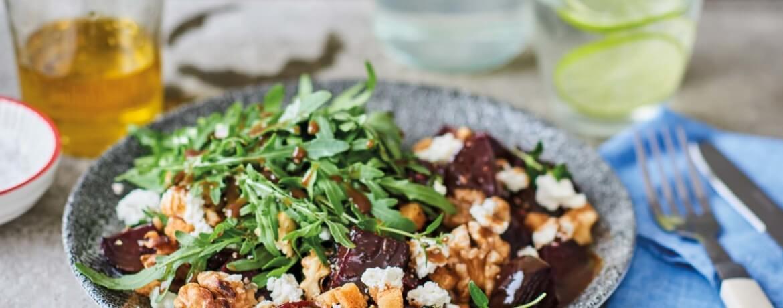 Rucola-Salat mit Roter Bete aus dem Ofen