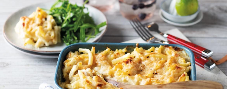 Mac and Cheese mit Salat