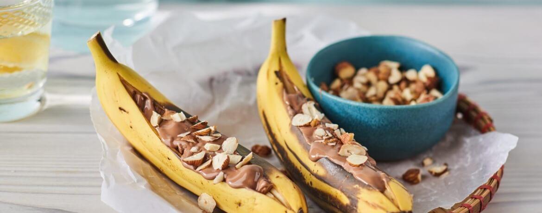Gegrillte Schoko-Banane