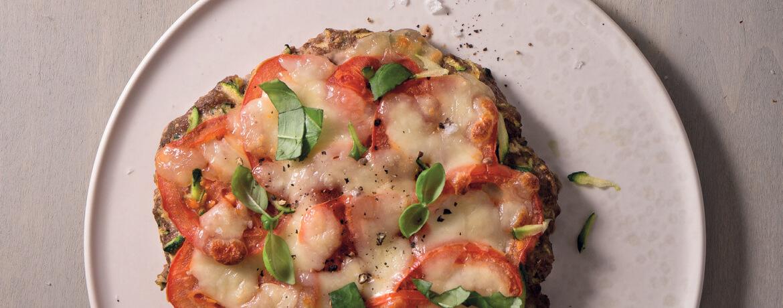 Low-Carb-Pizzen à la Caprese