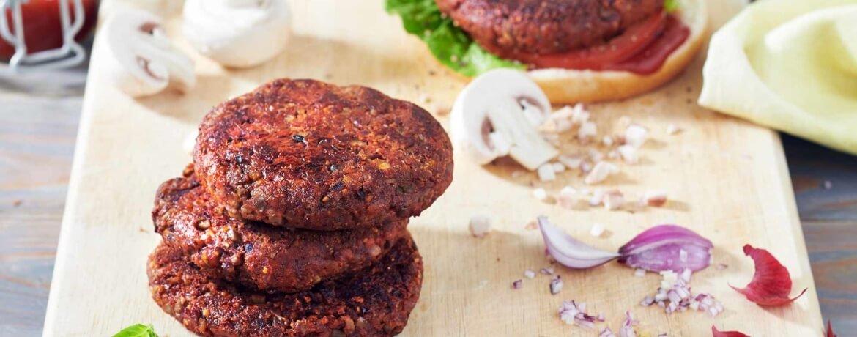 Veganer Burger-Pattie