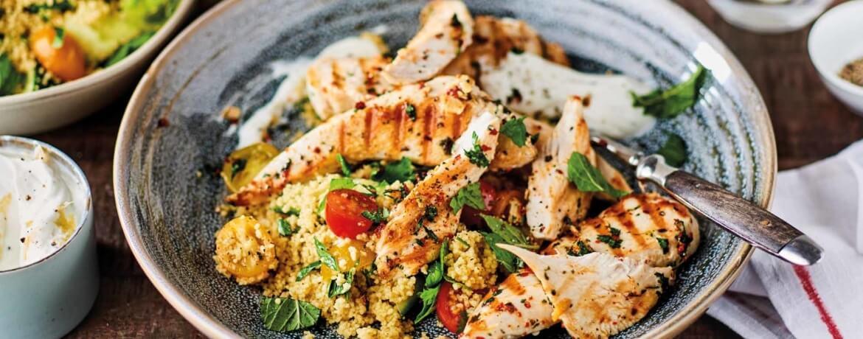 Grillhähnchen mit Couscous-Salat