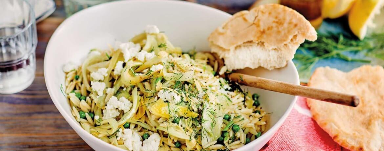Kritharaki-Salat mit Fenchel