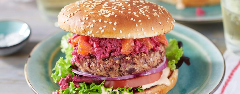 Roter Veggie-Burger