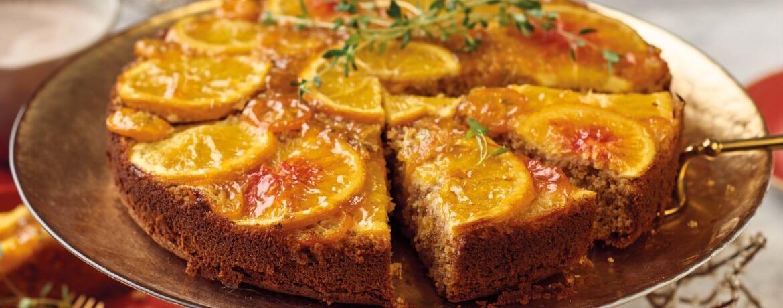 Upside-Down-Cake mit Zitrusfrüchten