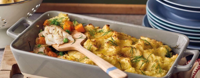 Fischpie mit Kartoffelkruste
