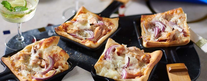 Pizza-Raclette mit Thunfisch