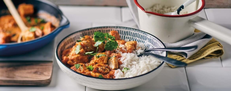 Paleo-Butter-Hühnchen mit Reis