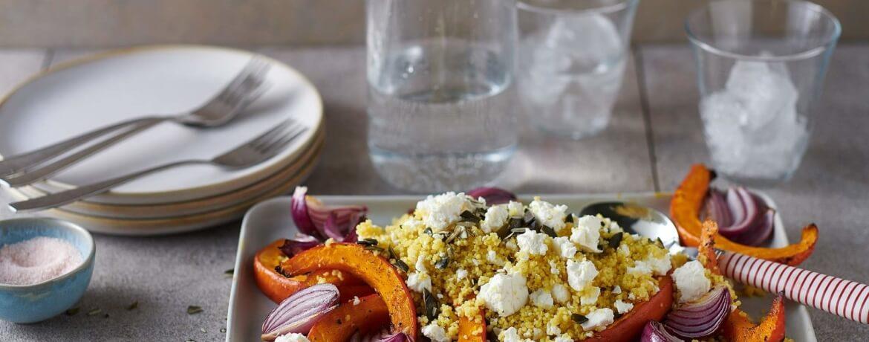 Couscous-Salat mit Kürbis