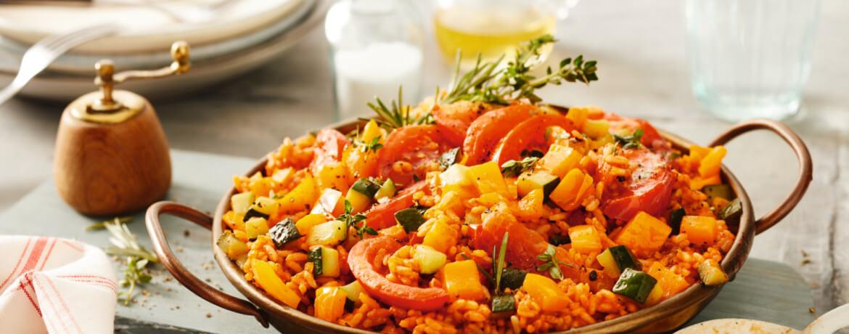 Tomatenreis mit mediterranem Gemüse