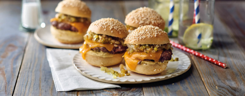 Einfache Mini-Burger