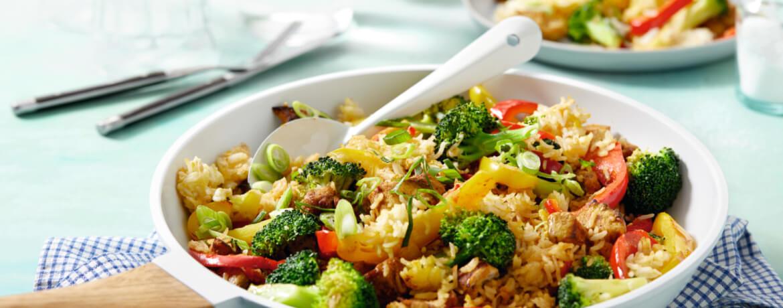 Gebratener Reis mit Hähnchen