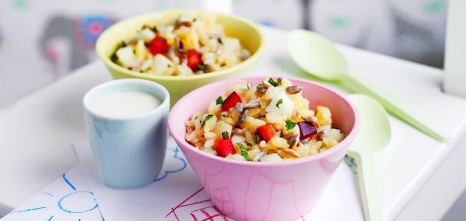 Süßer Reis-Frucht-Salat