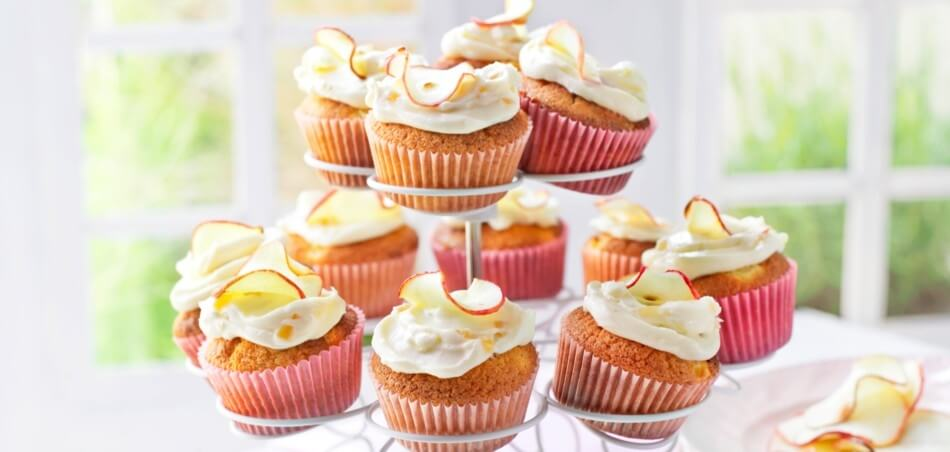 Apfel-Ingwer-Cupcakes