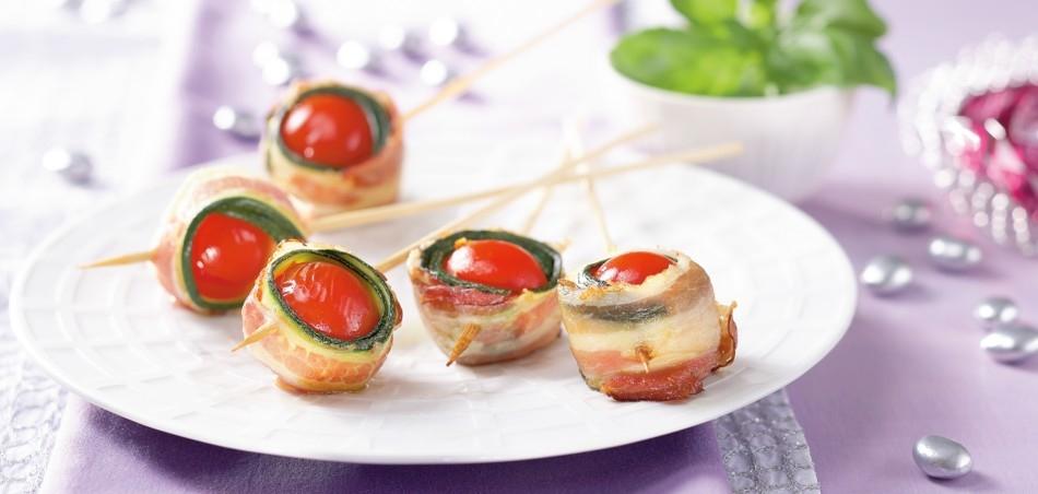 Tomaten-Speck-Spieße