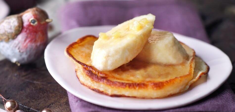 Pancakes mit Ingwer-Bananen