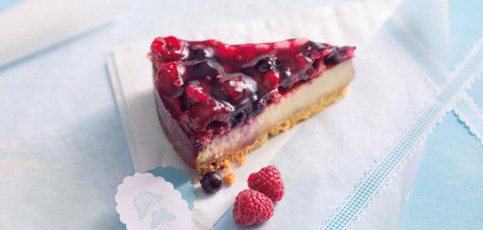 Cheesecake mit Beerenguss