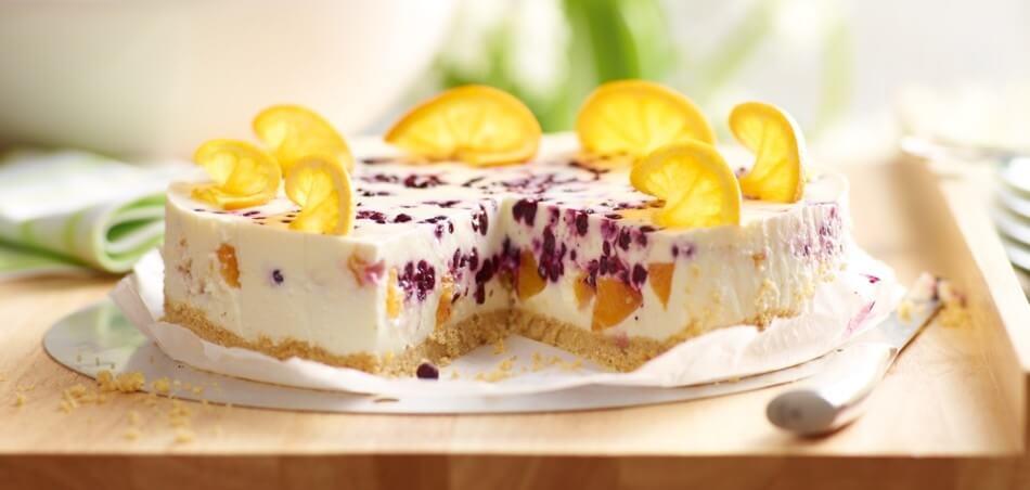 Heidelbeer-Orangen-Torte