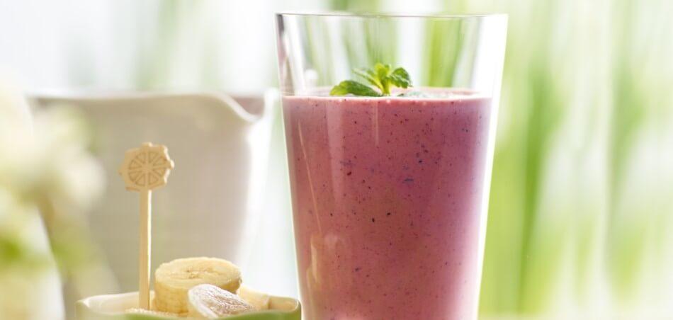 Blaubeer-Bananen-Shake
