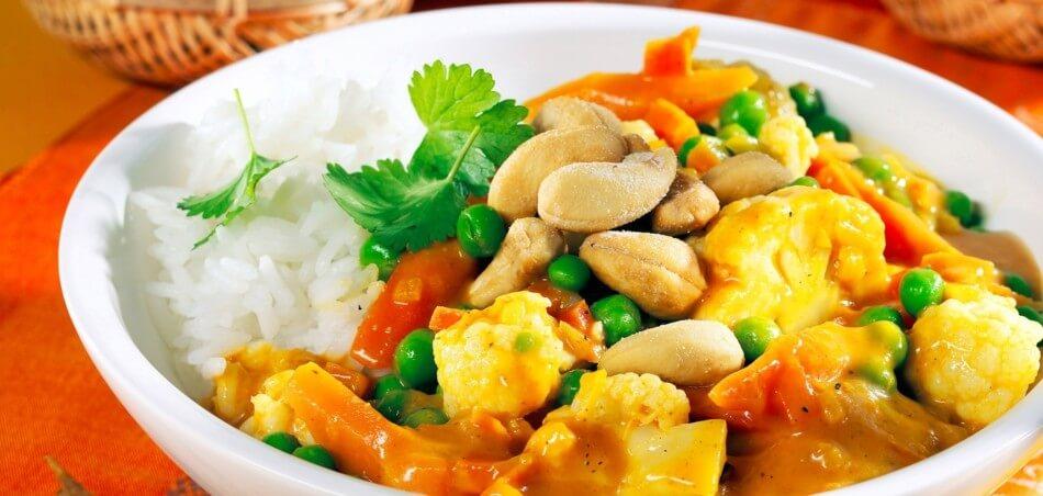 Blumenkohl-Erbsen-Curry