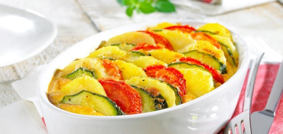 Kartoffelgratin Tricolore