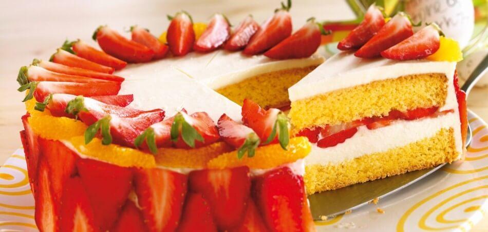 Orangen-Erdbeer-Torte