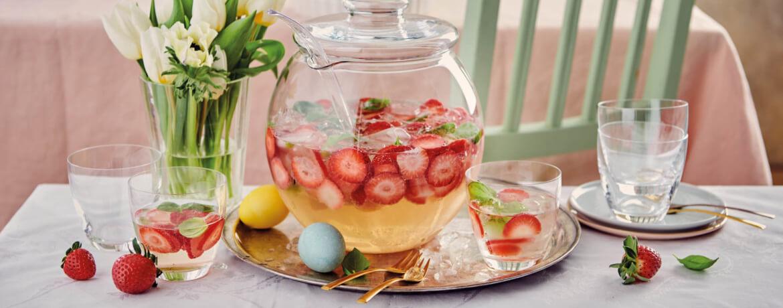 Erdbeer-Wermut-Bowle