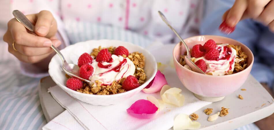 Himbeer-Müsli mit Quark und Joghurt