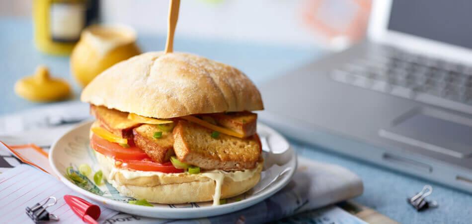 Veggie-Burger mit Tofu