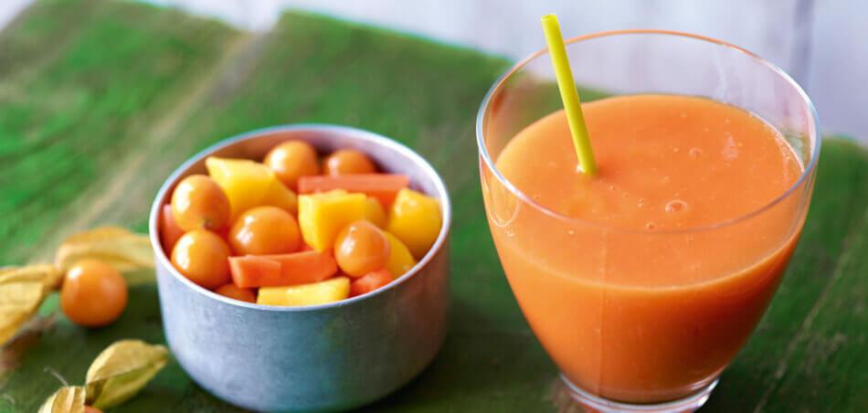 Mango-Karotten-Smoothie mit Ingwer