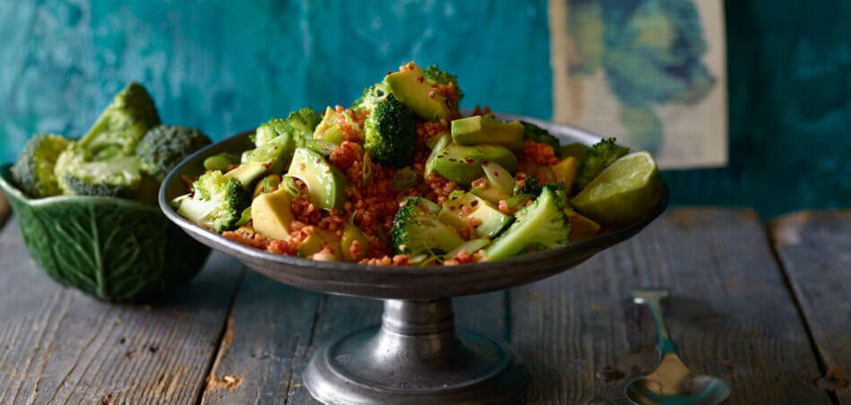 Bulgur-Salat mit Brokkoli und Avocado