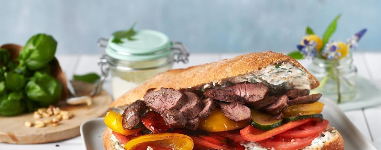 Sandwich mit Lammkeule