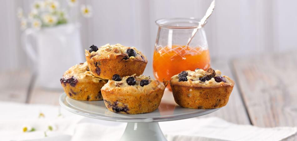 Müsli-Muffins mit Heidelbeeren