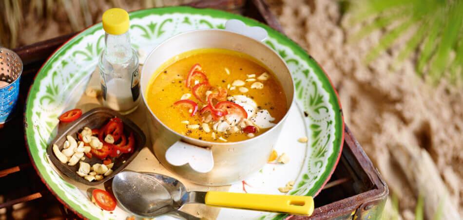 Süßkartoffel-Cashew-Suppe